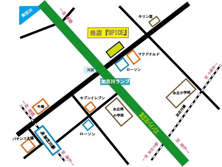 当店周辺の地図